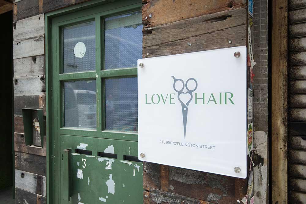 love hair salon sign