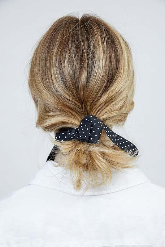 Balayage blonde hair up